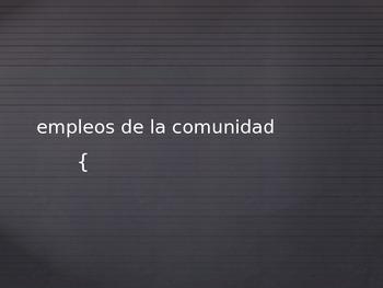 Community Jobs (Spanish)