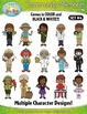 Community Members / Helpers Character Clipart Set 4 — Incl