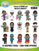 Community Members / Helpers Character Clipart Set 5 — Incl