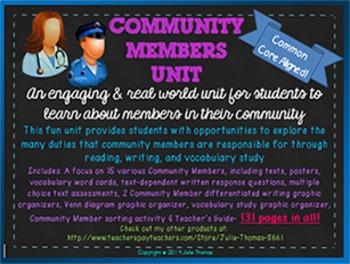Community Members Unit- Focus on 15 Community Helpers- 131
