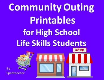 Community Outing Printable Activities for Secondary Life S