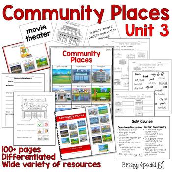Community Places Mega Unit for Special Education: Unit 3