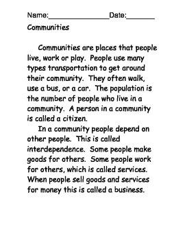 Community Reading Comprehension