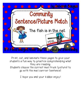 Community Sentence/Picture Match