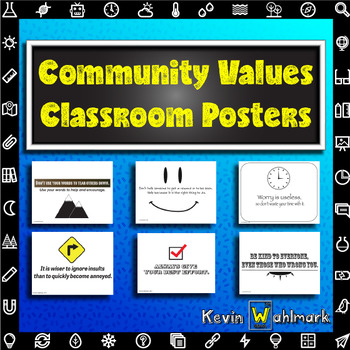 Community Values Printable Classroom Posters