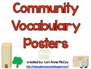 Community Vocabulary Posters: Urban, Suburban, and Rural