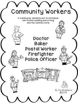 Community Workers Informational Writing Bundle