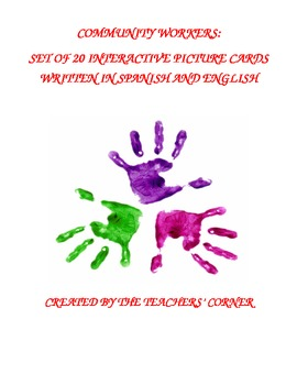 Community Workers: Set of 20 Interactive Picture Cards in