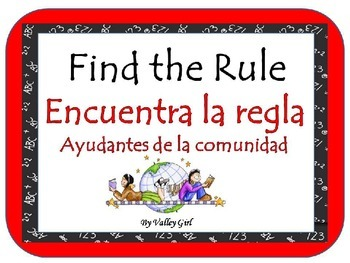 Community helpers: Find the rule (Spanish)