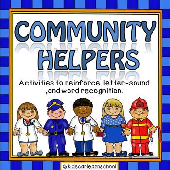 Community helpers-Letter-sounds and word recognition activities