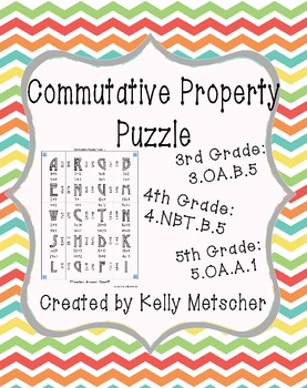 Commutative Property Puzzle, 3.OA.5, 4.NBT.5, 5.OA.1