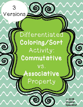 Commutative vs. Associative Property Differentiated Activi