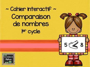 Comparaison de nombres - Cahier interactif