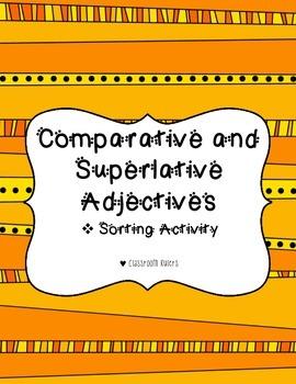 Comparative and Superlative Adjective Sort