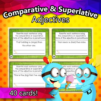 Comparative and Superlative Adjectives Taskcards