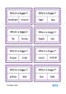 Comparatives Clip Cards, Autism, Special Education, Speech, ESL