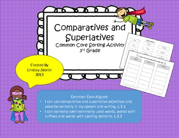 Comparatives and Superlatives: 2nd-3rd Grade Common Core S