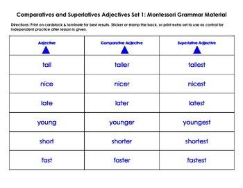 Comparatives and Superlatives Adjectives: Set 1