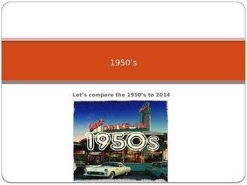 Compare 1950's to Today