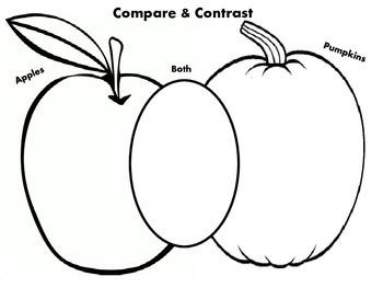 Compare & Contrast - Apple & Pumpkin Activity
