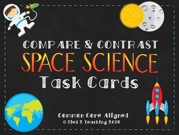 Compare & Contrast Large Task Cards (SPACE SCIENCE)