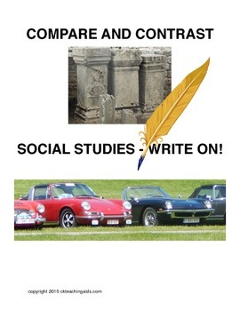 Compare Contrast, Social Studies Write On