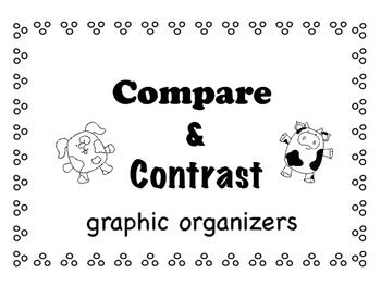 Compare Contrast graphic organizers