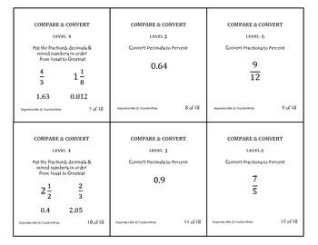 Compare & Convert  (Fractions, Decimals, Percent, Proporti