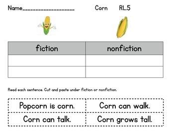 Compare Corn Fiction Nonfiction