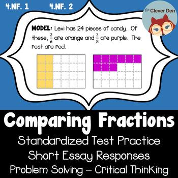 Compare Fractions - Standardized Tests Practice - Short Es