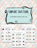 Compare Fractions Worksheets Common Core CCSS.Math.Content