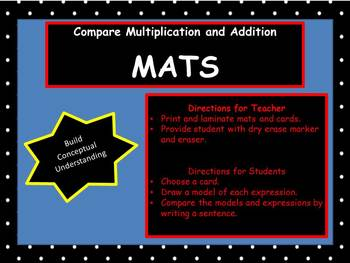 Compare Multiplication and Addition Mats