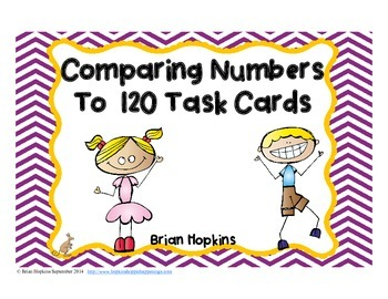 Compare Numbers to 120 Task Cards