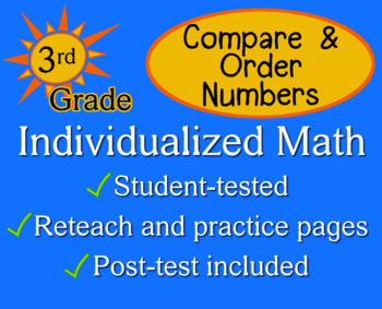 Compare & Order Numbers, 3rd grade - Individualized Math -