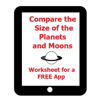 Compare Planet and Moon Size on the iPad! Free app and res