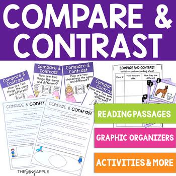 Comprehension Skill: Compare and Contrast: 12 No Prep Prin