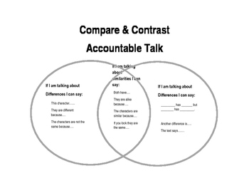 Compare and Contrast Accountable Talk