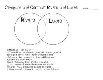Bodies of Water Compare and Contrast