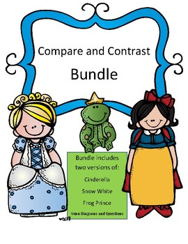 Compare and  Contrast Bundle Pages (Cinderella, The Frog P