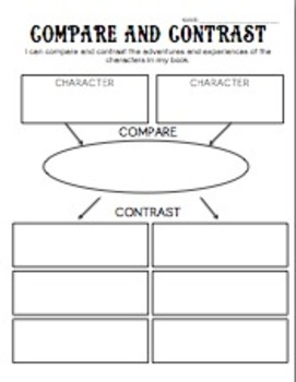 Compare and Contrast Characters Organizer