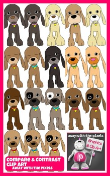 18 Puppy Clip Art for Comparatives, Superlatives, Comparis