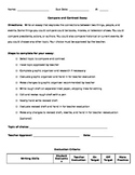 Compare and Contrast Essay Assignmet with Rubric