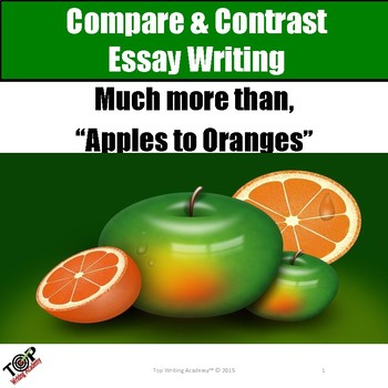 Compare and Contrast Essay Writing