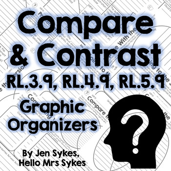 Compare and Contrast Fiction Graphic Organizers RL.3.9 RL.