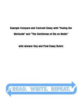 Compare and Contrast Guided Essay Example WITH Answer Key