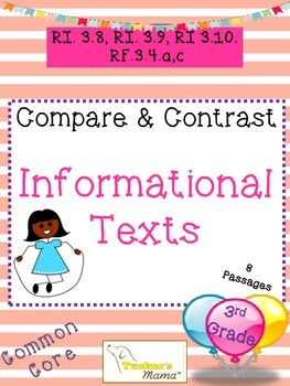 Compare and Contrast Informational Text (8 passages)