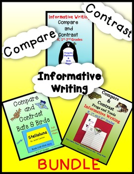 Animals - Compare and Contrast/Writing BUNDLE - K, 1st & 2