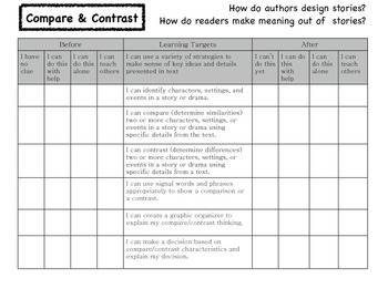 Compare and Contrast Learning Targets