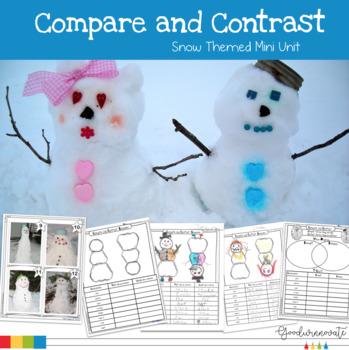 Compare and Contrast Snow Themed Mini Unit