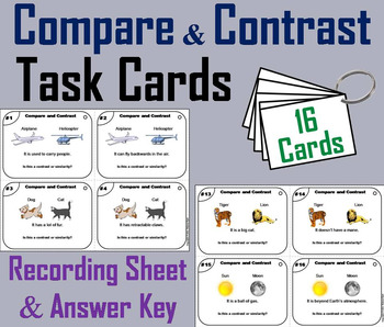 Compare and Contrast Task Cards 5th 4th 3rd 2nd Grade Read